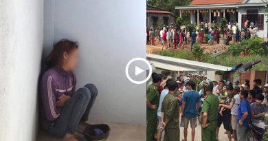 Clip: Nghi đột nhập vào nhà bắt cóc trẻ em, một người phụ nữ bị dân làng vây bắt